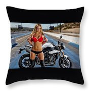 Red Is Not Always For Ducati Throw Pillow