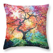 Red Japanese Maple Throw Pillow