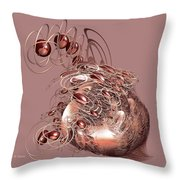 Red Jewels Throw Pillow