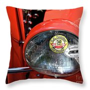 Red La Roadster Throw Pillow