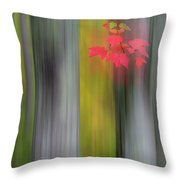 Red Leaves - Abstract Throw Pillow by Gary Lengyel