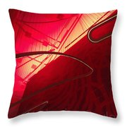 Red Light District In Nyc Throw Pillow