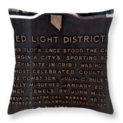 Red Light District Throw Pillow