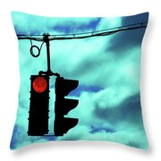 Red Light Throw Pillow