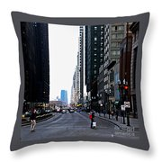 Red Lights - City Of Chicago Throw Pillow