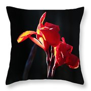 Red Liily Throw Pillow