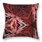 Red Lines In Nature Throw Pillow