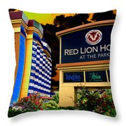 Red Lion Hotel In Spokane Throw Pillow