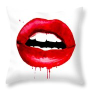 Red Lips 3  Throw Pillow