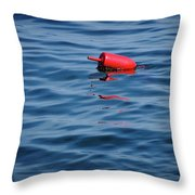 Red Lobster Buoy Throw Pillow
