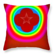 Red Logo Throw Pillow