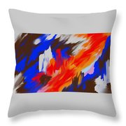 Red Lore Throw Pillow