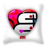 Red Love Heart Throw Pillow