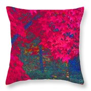 Red Maple 1 Throw Pillow