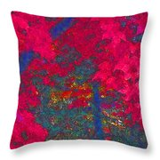 Red Maple 1 Version 1 Throw Pillow