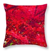 Red Maple 2 Version 1 Throw Pillow