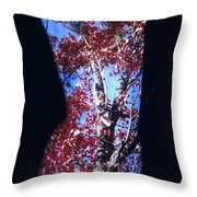 Red Maple Throw Pillow by Arla Patch