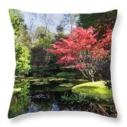 Red Maple Throw Pillow