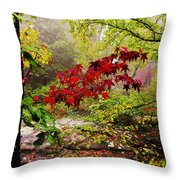 Red Maples Throw Pillow