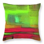 Red Meets Green Throw Pillow