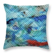 Red Message Throw Pillow