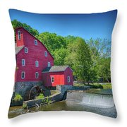 Red Mill Of Clinton New Jersey Throw Pillow