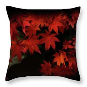 Red  Momiji Throw Pillow