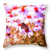 Red Monarch Throw Pillow