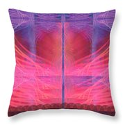 Red Moon Throw Pillow