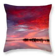 Red Morning Throw Pillow