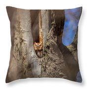 Red Morph 2 Throw Pillow