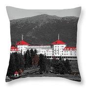 Red Mount Washington Resort Throw Pillow