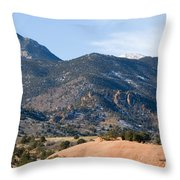 Red Mountain And Pikes Peak Throw Pillow