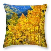 Red Mountain Aspens Throw Pillow