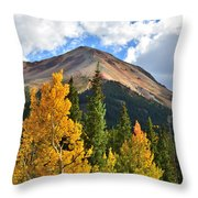 Red Mountain Fall Colors Throw Pillow