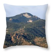 Red Mountain In The Foothills Of Pikes Peak Colorado Throw Pillow