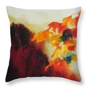 Red Mountain Throw Pillow