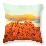 Red Mountain Sunset Organs Throw Pillow