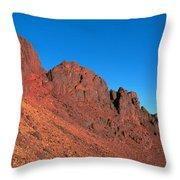 Red Mountains Throw Pillow
