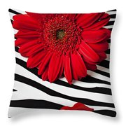 Red Mum And Red Lips Throw Pillow