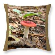 Red Mushroom 1 Throw Pillow