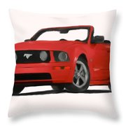 Red Mustang Throw Pillow