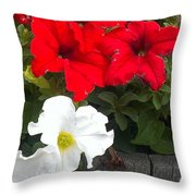 Red N White Throw Pillow