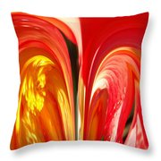 Red N Yellow Flowers 4 Throw Pillow