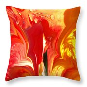 Red N Yellow Flowers 5 Throw Pillow
