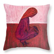 Red Nude Throw Pillow