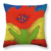 Red Number 1 Throw Pillow