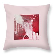 Red Number Seven Throw Pillow
