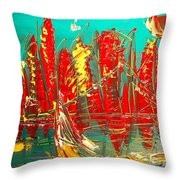 Red Nyc Throw Pillow