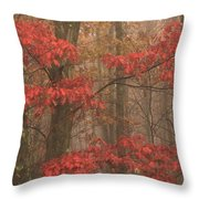 Red Oak In Fog Throw Pillow